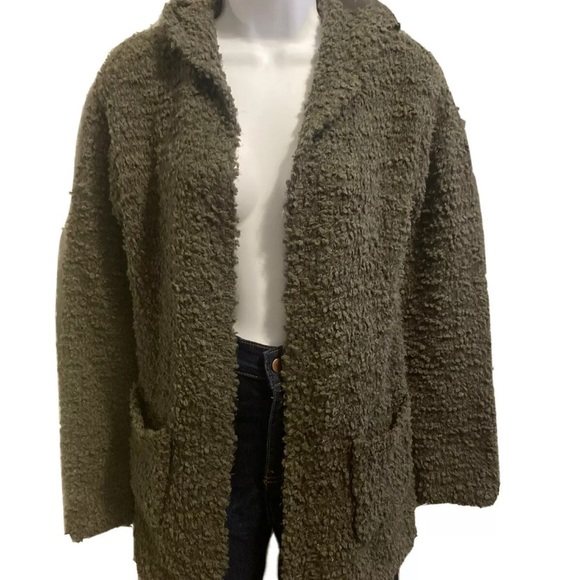 Sonoma Olive Green Gardigan With Hoodie